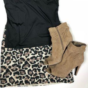 Ann Taylor Loft leopard print skirt 6